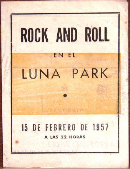 Folleto del concurso de rock and roll en el Luna Park [Imagen aportada por Alejandro Molinier]