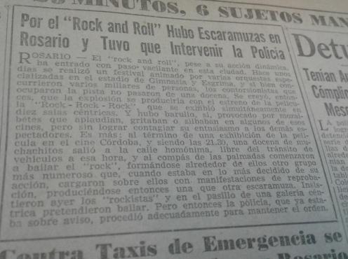 Recorte del diario La Razón